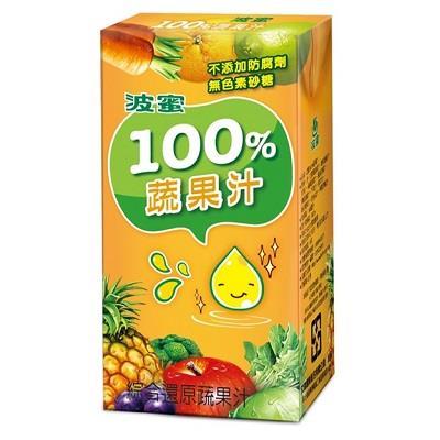 波蜜100%蔬果汁 160ml*6包/組