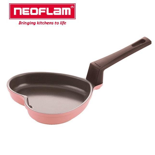 【韓國NEOFLAM】陶瓷不沾煎蛋鍋-14cm心形粉
