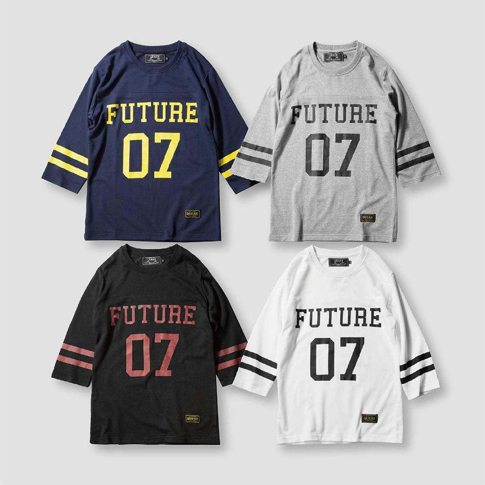 【QUEST】 FUTURE LOGO QUARTER TEE 四色LOGO七分袖