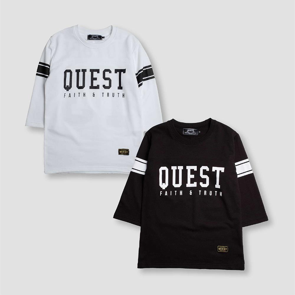 【QUEST】FUTURE THREE-QUARTER LOGO七分袖
