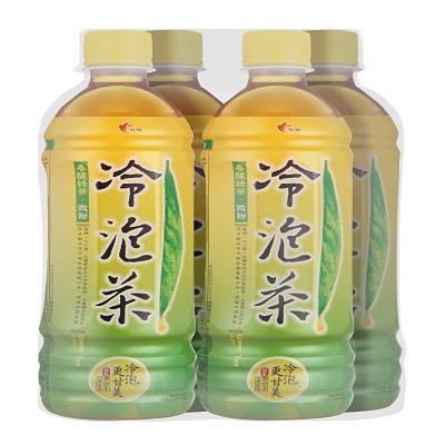 【光泉】冷泡茶 春釀綠茶(微甜)585ml*4入