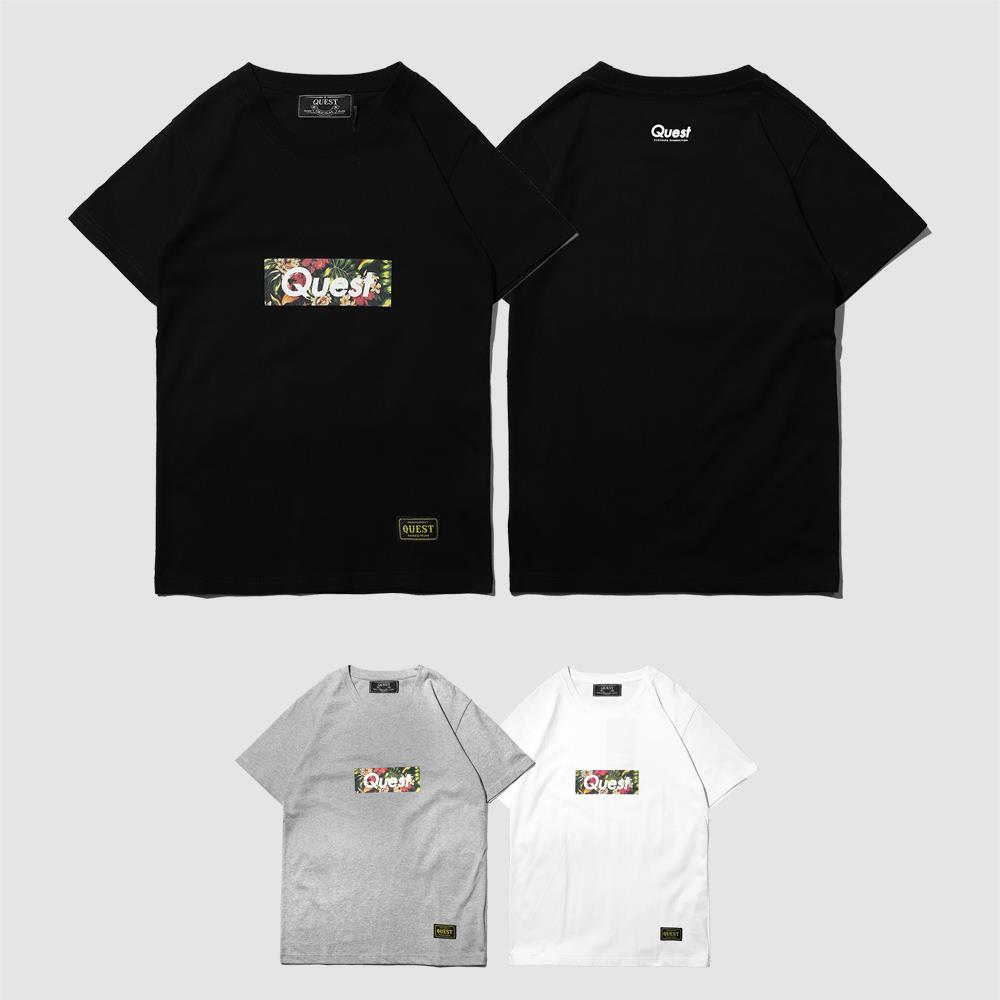 【QUEST】FLOWER BOX LOGO 花卉TEE