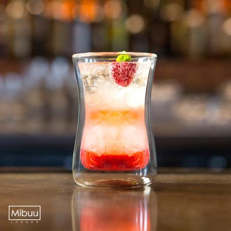 英國Mibuu 手工雙層玻璃杯禮盒(小迷布100ml 4入)