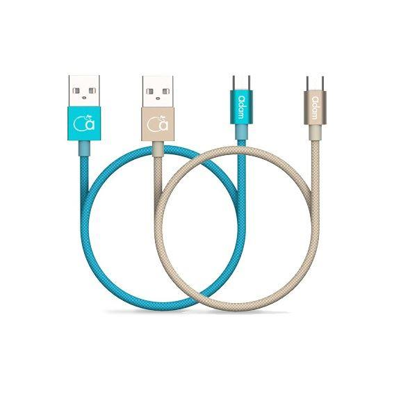 【Adam】 MicroUSB 1.2米金屬編織傳輸充電線