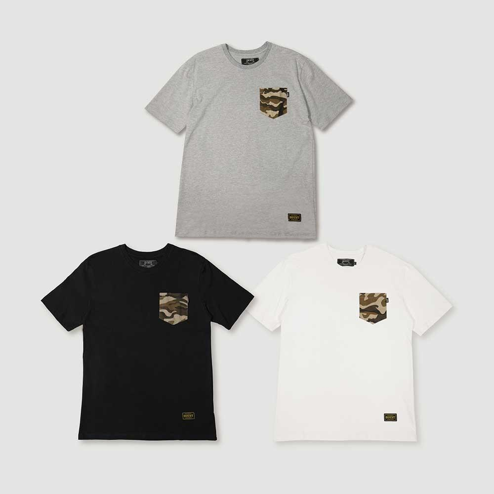 【QUEST】CAMO POCKET TEE 迷彩口袋短T