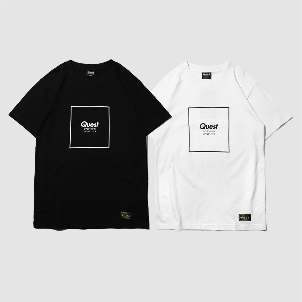 【QUEST】COORDIANT LOGO TEE 經緯度LOGO短T
