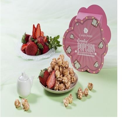 【Candy Poppy】繽紛花園 草莓裹糖爆米花70g 氣爆式*少油*少負