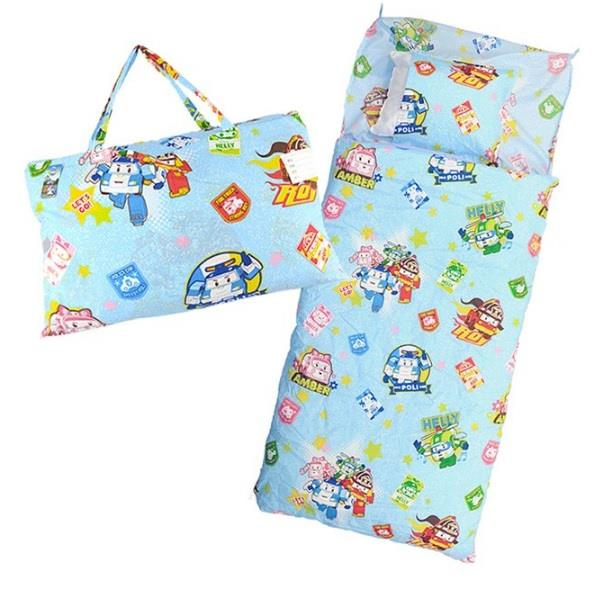【BabyTiger虎兒寶】MIT卡通圖樣幼教兒童睡袋 (POLI 救援小英雄 波力)