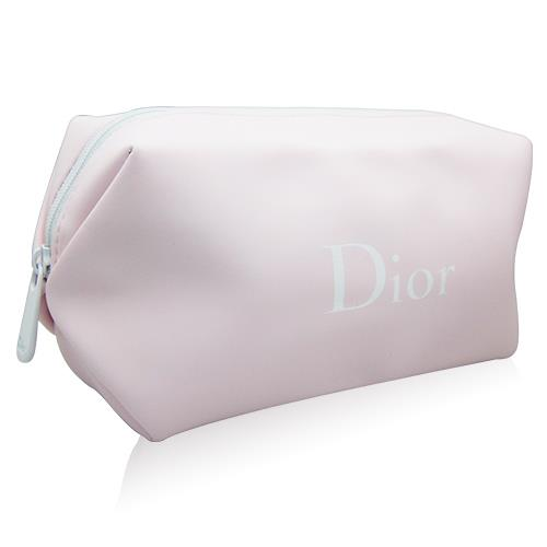 Dior迪奧 花植水漾粉色化妝包(橫長15cm.高8cm.寬6cm) [QEM-girl]