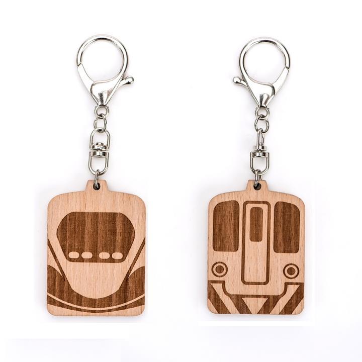 【台灣高鐵】高鐵ⅹ台鐵「搭雙鐵.遊集集」雙面烙印木牌鑰匙圈