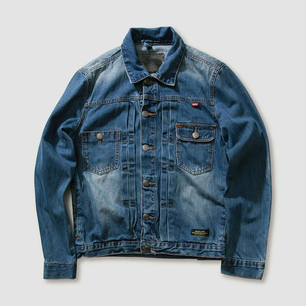 【QUEST】WASH DENIM JKT 刷白牛仔外套