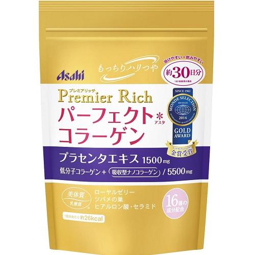 日本代購【Asahi】加強版PREMIER RICH 膠原蛋白粉 30日份