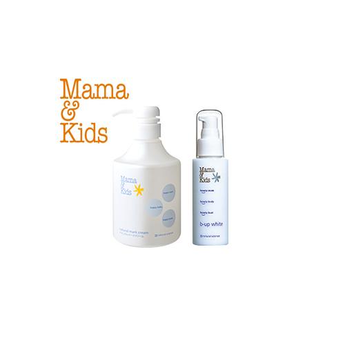 日本代購【Mama & Kids】高保濕妊娠霜&胸部專用美容精華液 兩入組