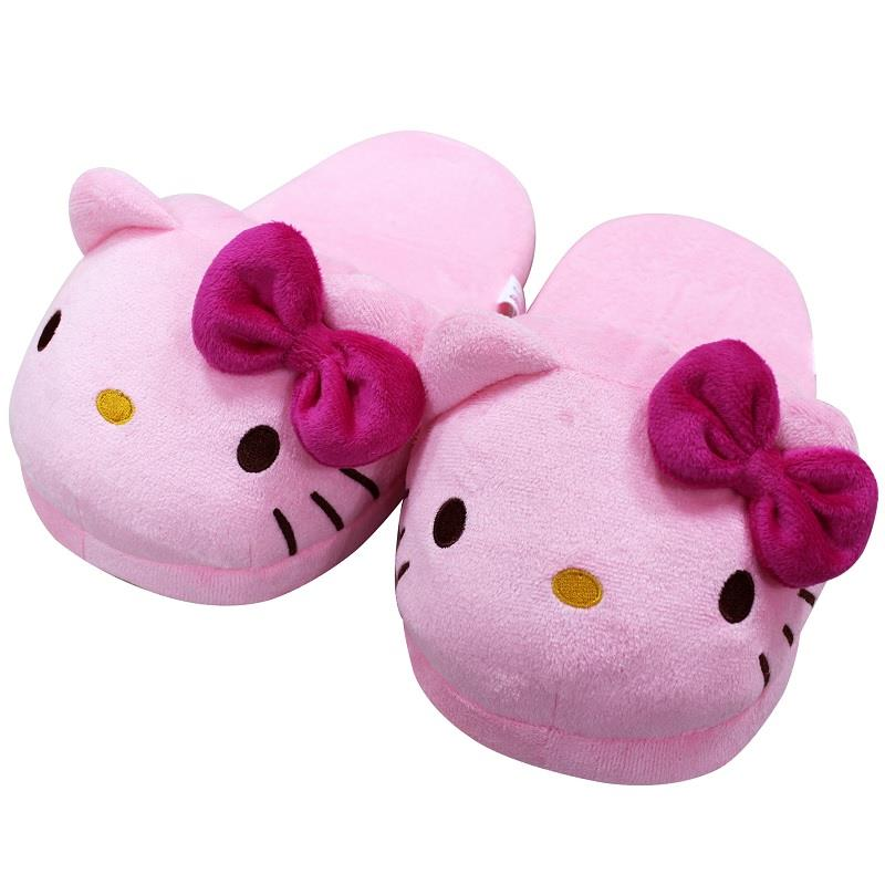 【Hello Kitty】頭型室內絨布拖