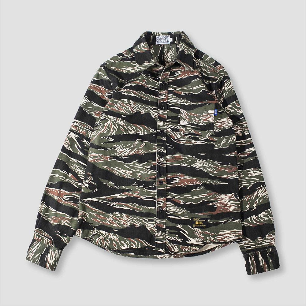 【QUEST】TIGER CAMO SHIRT 虎紋迷彩襯衫