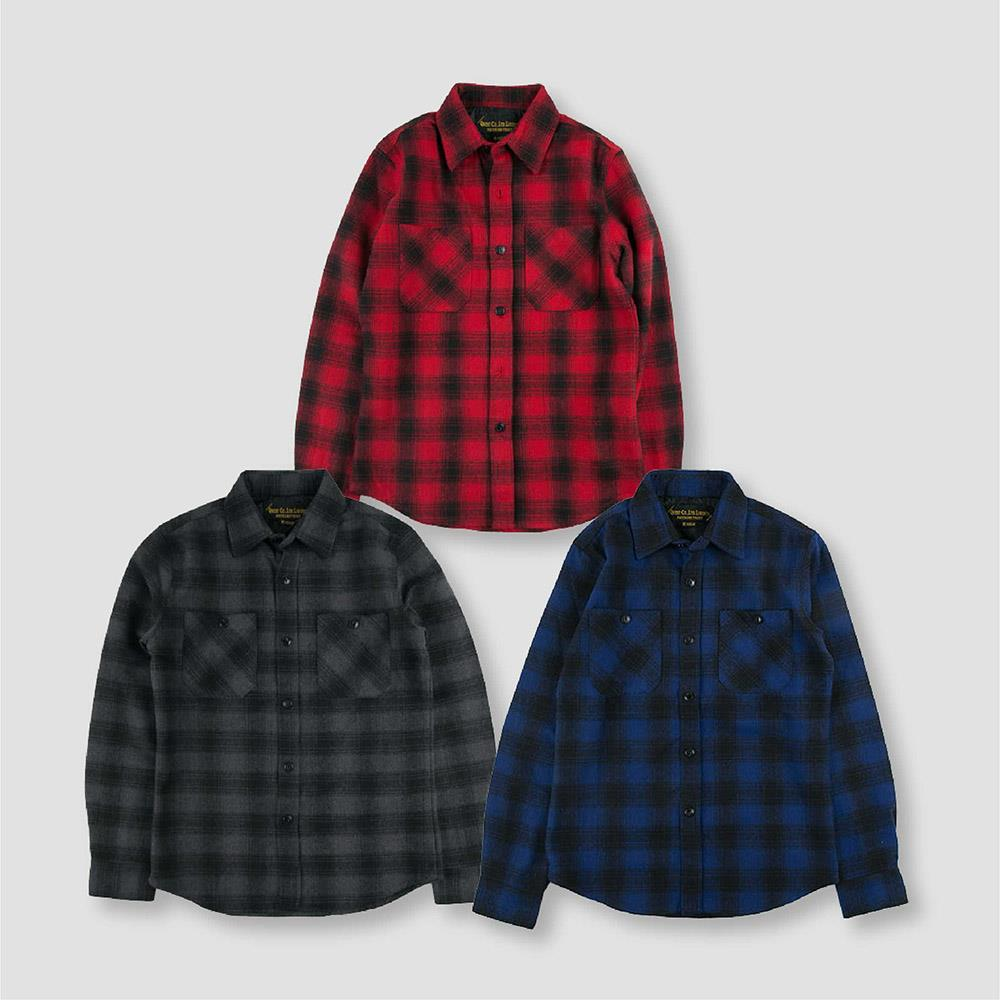 【QUEST】FLANNEL WOOL PLAID SHIRT 墨西哥襯衫