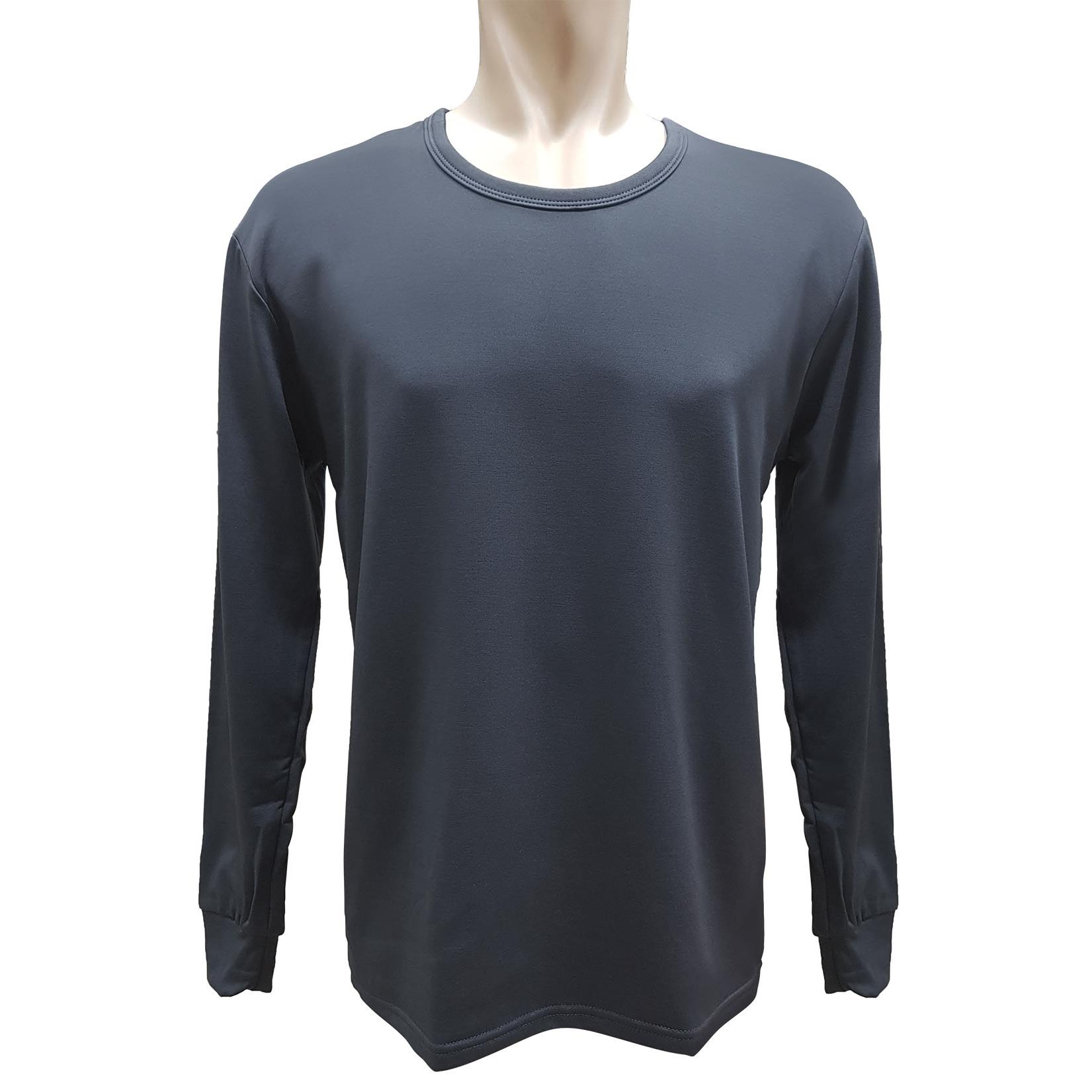 【LOZY】圓領男士刷毛保暖衣-深灰