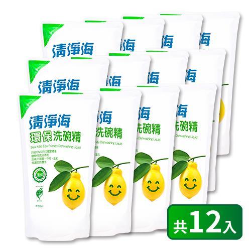 【清淨海】環保洗碗精補充包450g*12入