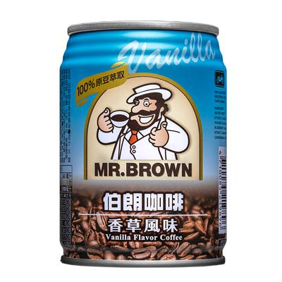 【伯朗】咖啡香草風味240ml-24罐/箱
