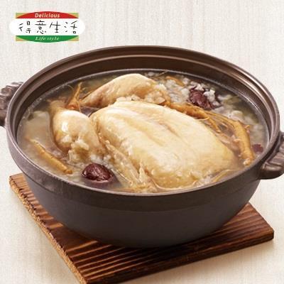 【冷凍店取-得意生活】韓式人蔘鮮雞湯(1500g(固形物:585g))