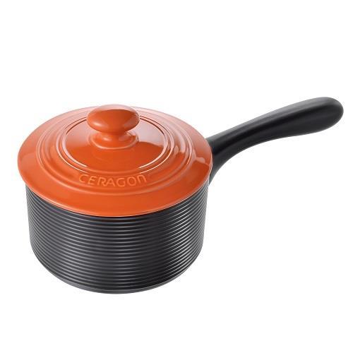【NEOFLAM】LEHE HOME單柄陶鍋16cm-橘色