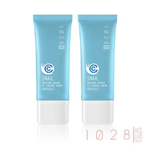 即期優惠【1028】全效保濕蝸牛CC精華霜SPF30 PA++(02自然膚)30ml/支 (2入組)