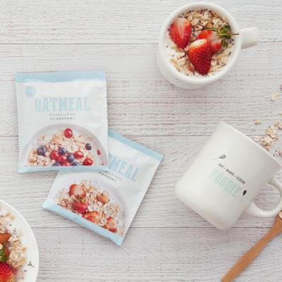 美味生活燕麥片1盒+馬克杯套組 草莓蜂蜜/綜合莓果堅果任選