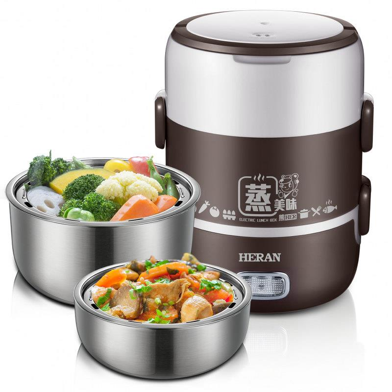 【HERAN禾聯】2L攜帶式不鏽鋼多功能電蒸鍋(雙層)(HSC-2101)