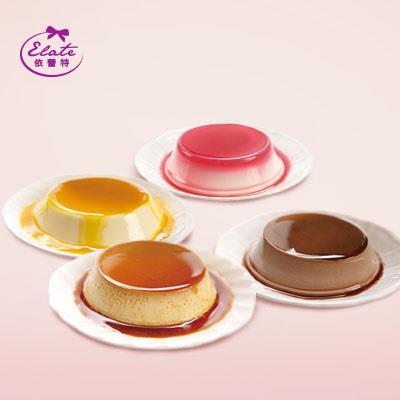 【依蕾特】布丁奶酪綜合禮盒(鮮奶布丁*2入+可可奶酪*2入+芒果奶酪*2入+草莓奶酪*2入/盒)