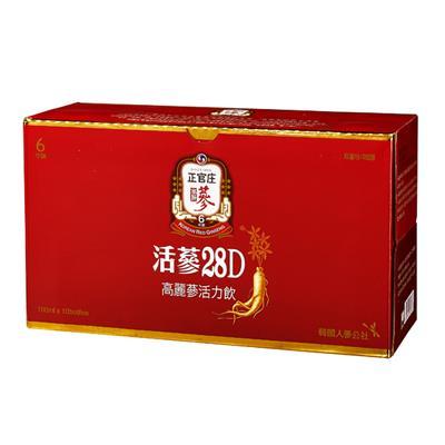 【正官庄】活蔘28D活力飲100ml*10入/箱