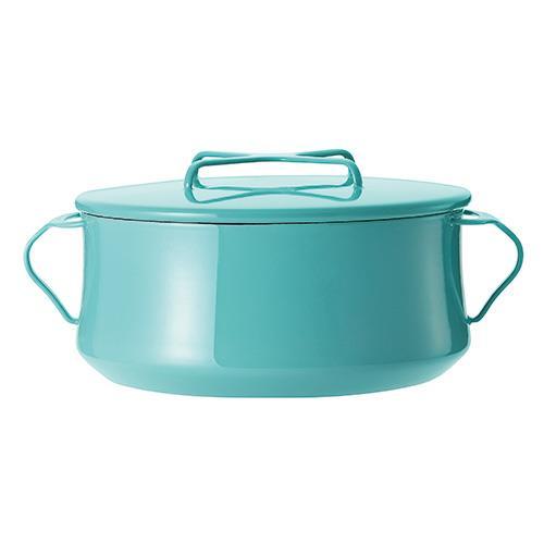 DANSK 琺瑯雙耳燉煮鍋/雙耳琺瑯鍋/燉鍋(附蓋) Tiffany藍 23cm