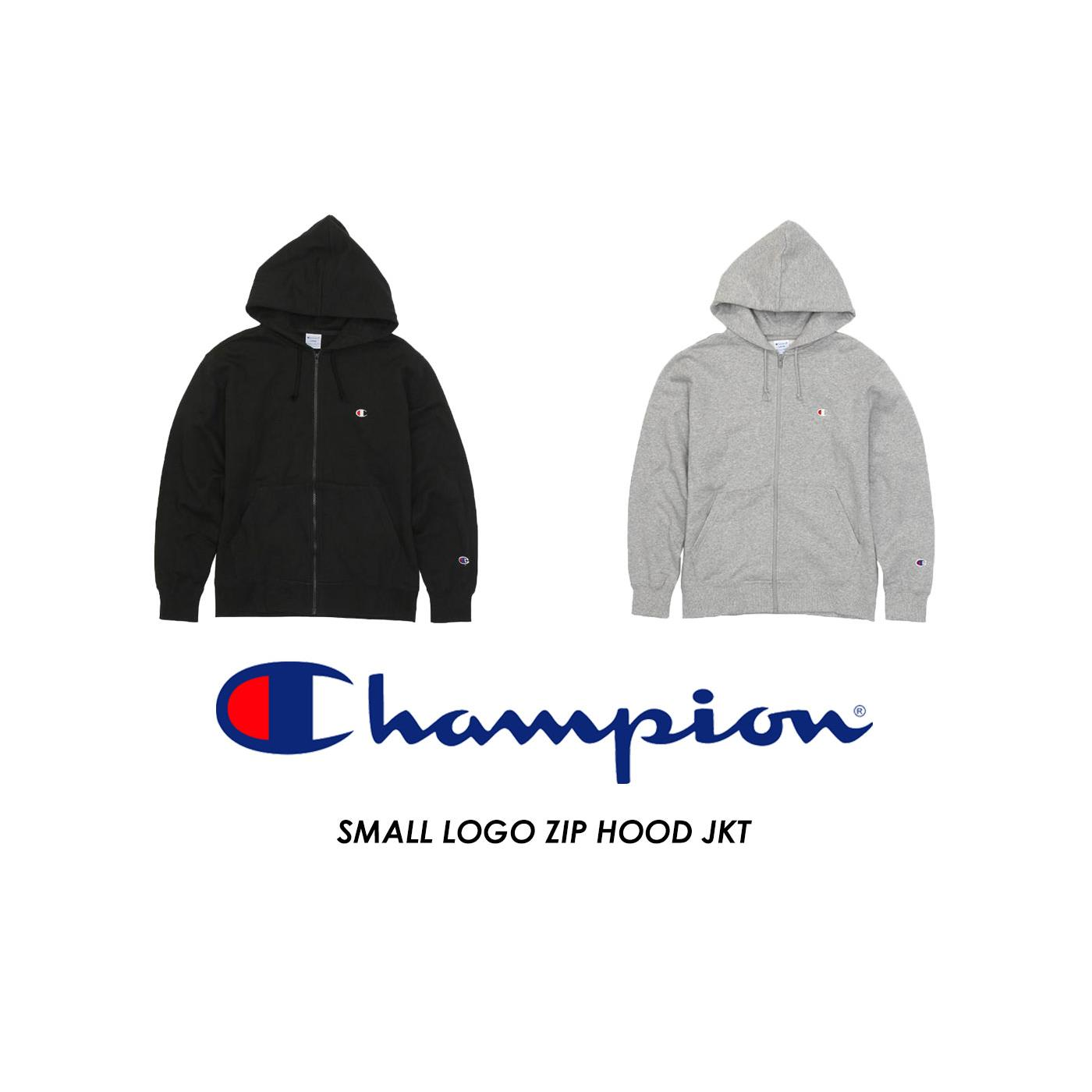 【CHAMPION】SMALL LOGO ZIP HOOD JKT 小LOGO連帽外套 二色