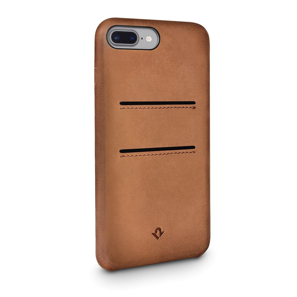 Twelve South Relaxed Leather iPhone 8 Plus / 7 Plus / 6 Plus / 6s Plus 卡夾皮革保護背蓋-干邑棕