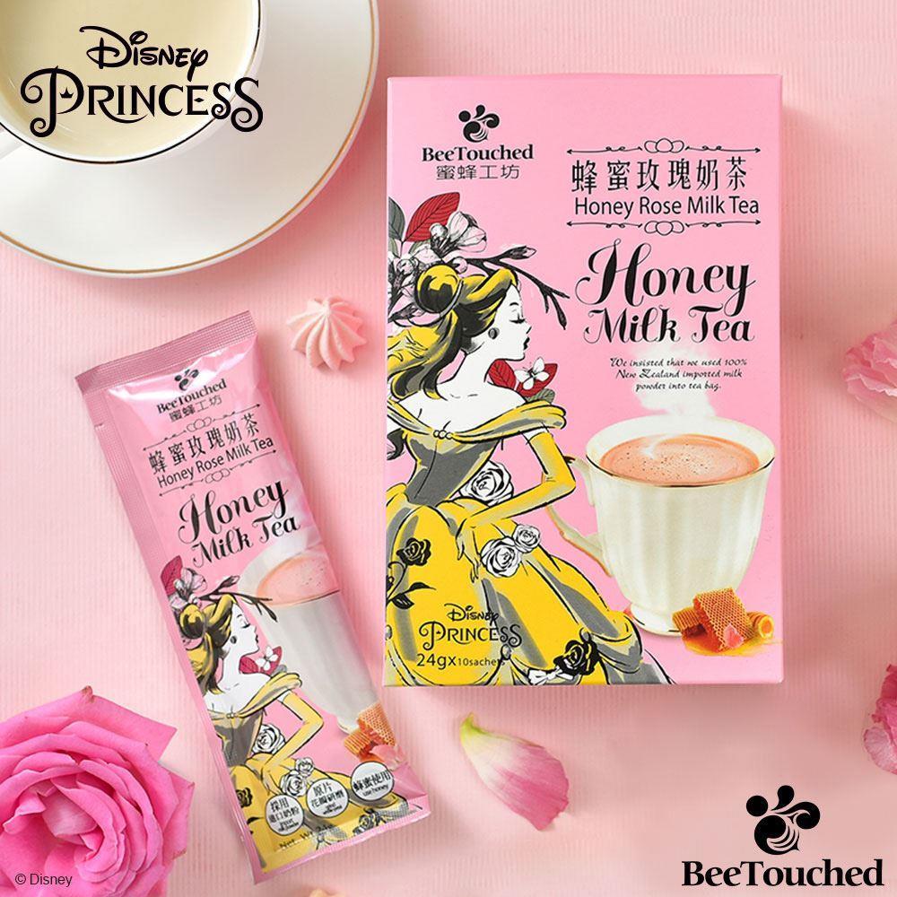 【蜜蜂工坊】迪士尼公主系列-蜂蜜玫瑰奶茶(24g*10包)