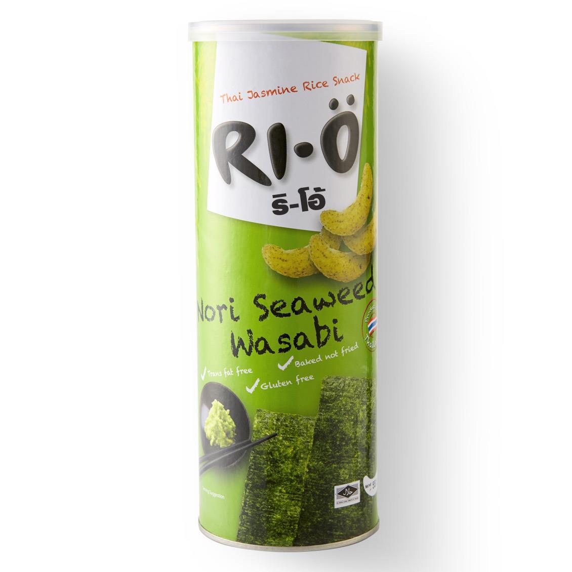 【力歐】芥末海苔風味米果55g