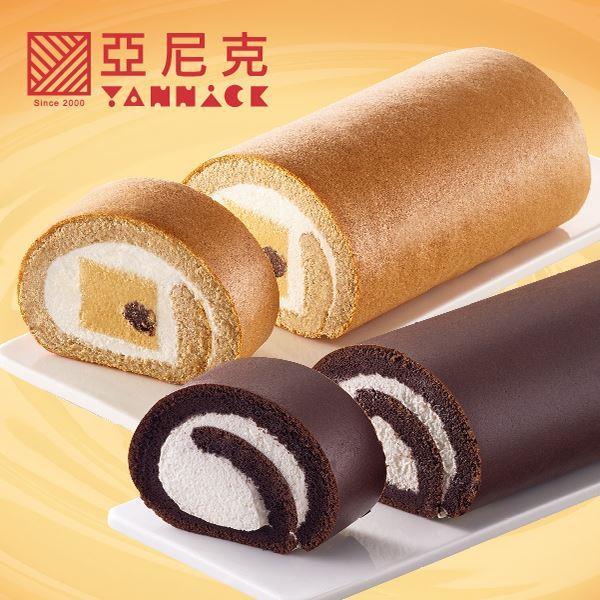 【亞尼克】特妃配生乳捲 (8入太妃糖生乳捲磚+8入特黑巧克力生乳捲)