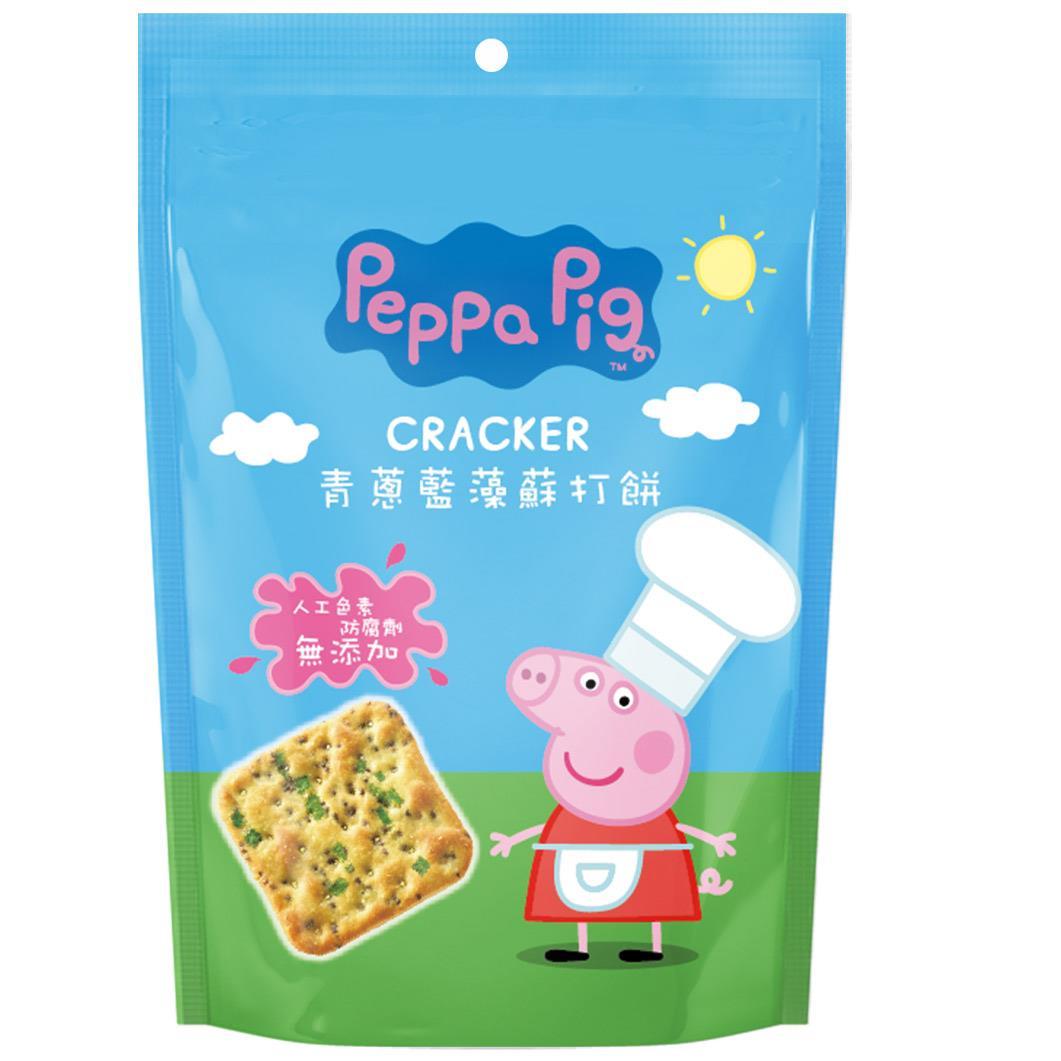 【佩佩豬】青蔥藍藻蘇打餅90g