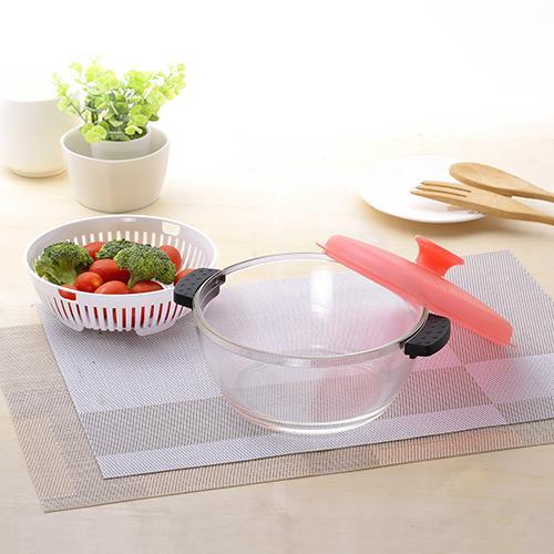 萬用耐熱玻璃調理缽1.5L -粉色