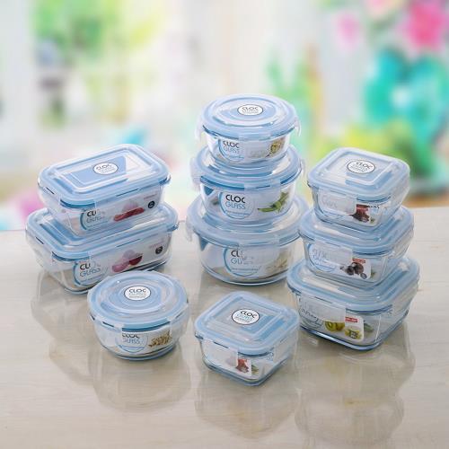 (限時特惠)Neoflam Cloc耐熱玻璃保鮮盒10件組