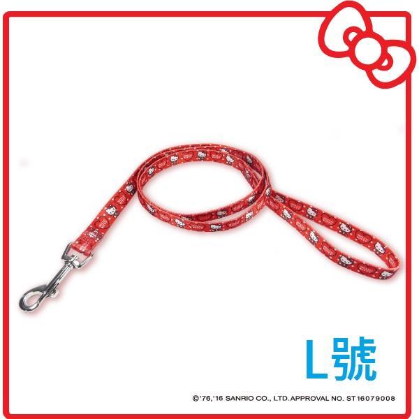【KITTY】點點款 牽繩- 紅 L