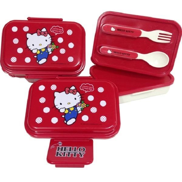 【Hello Kitty】雙層易扣便當盒