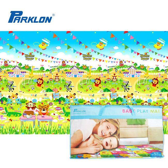 【PARKLON】韓國帕龍無毒地墊 - 攜帶型單面立體回紋摺疊爬行墊
