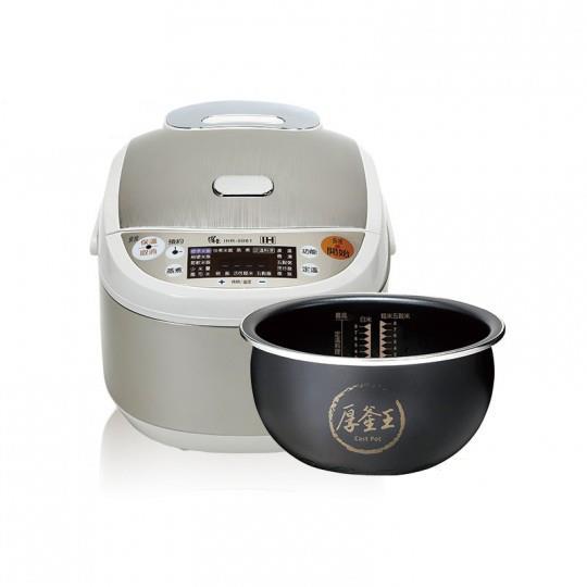 鍋寶IH智能定溫電子鍋-8人份(絲緞銀)-加贈316美食鍋