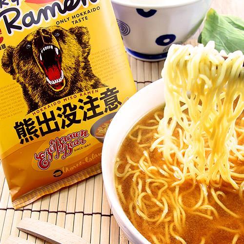 即期優惠【藤原製麵】熊出沒注意味增拉麵 (114g/包)