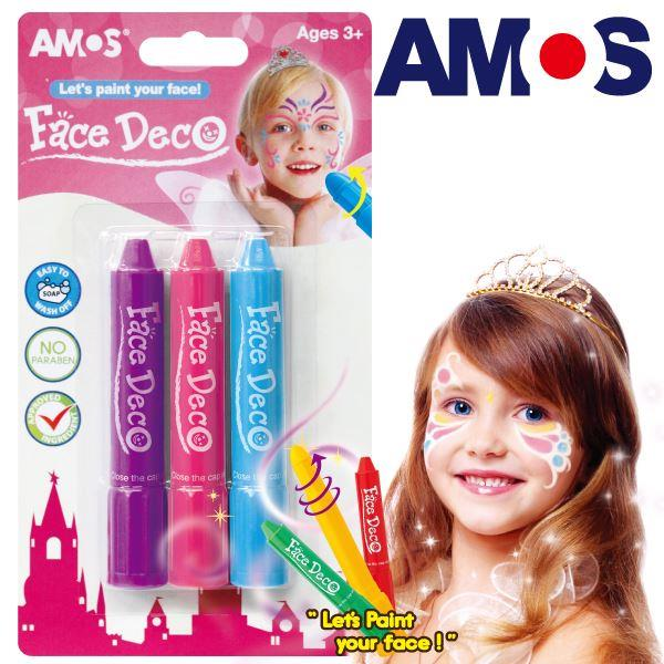 【韓國AMOS】人體彩繪棒-3入粉色款