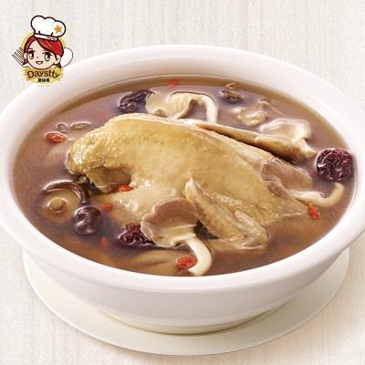 福利品【冷凍店取-黛絲蒂】百菇燉雞湯(2200g(固形物1000g),全雞)