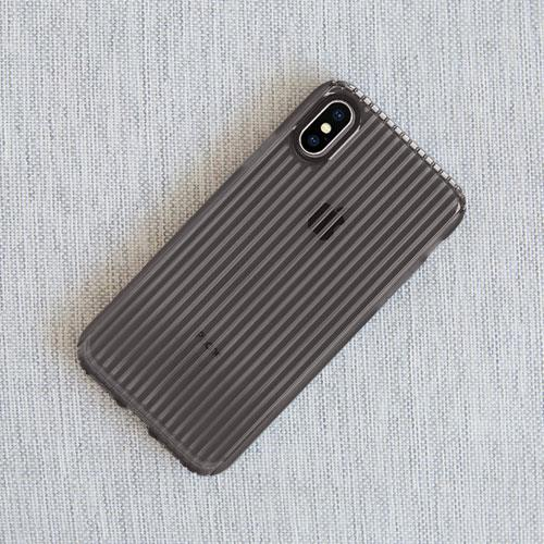 Incase Protective Guard iPhone X 條紋彈性背蓋 - 黑
