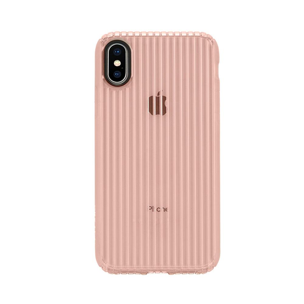Incase Protective Guard iPhone X 條紋彈性背蓋 - 玫瑰金