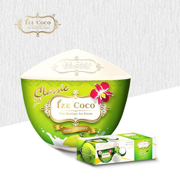 【冷凍店取-IZE COCO】椰子冰淇淋3杯組