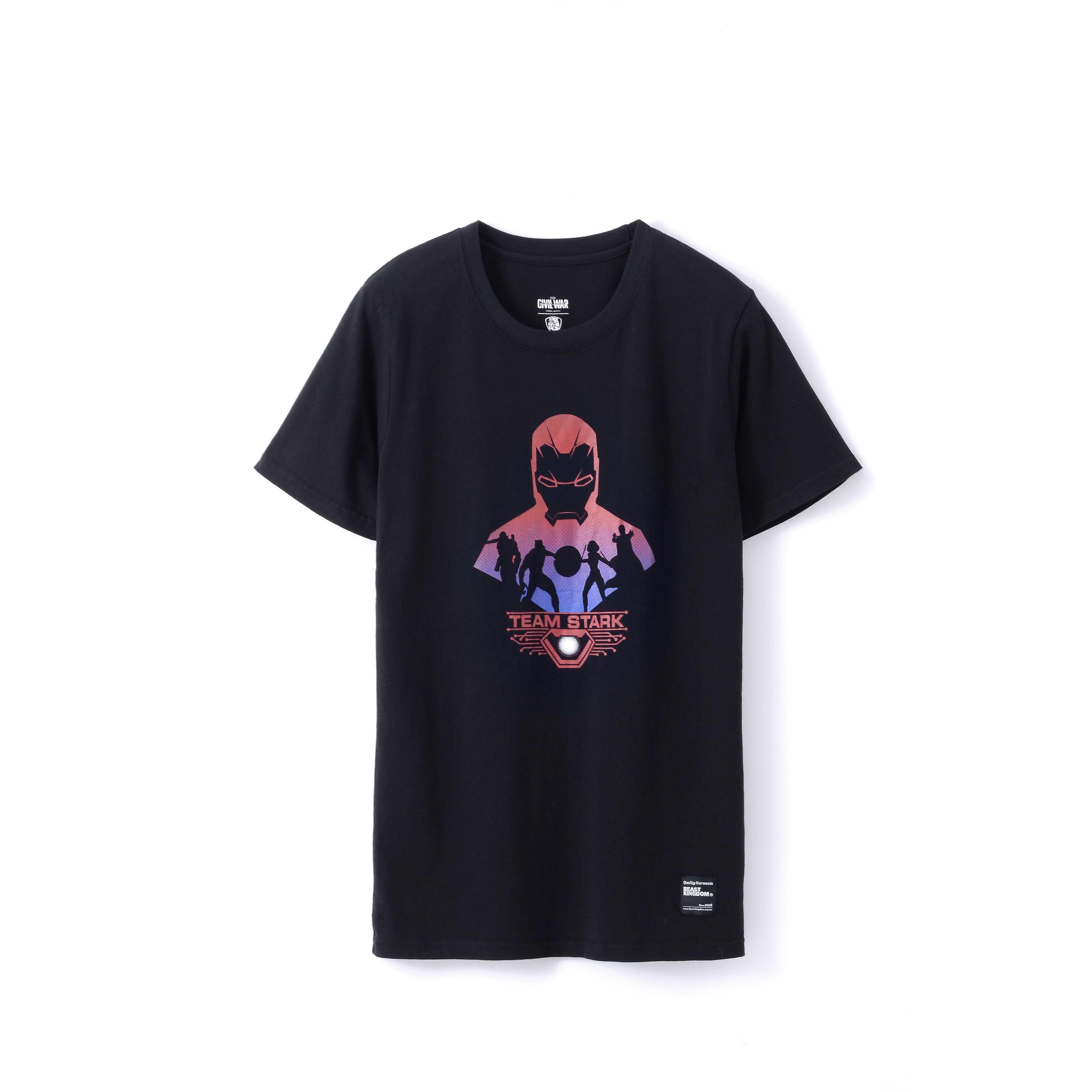 APL-CA3-012 美國隊長3 短袖T恤 012 Team Iron Man款(黑)